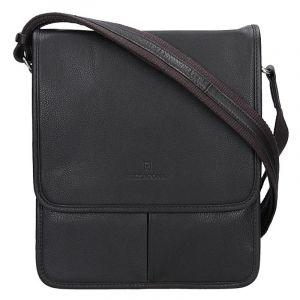 Pánská kožená taška na doklady Hexagona 469548 – tmavě hnědá 11656