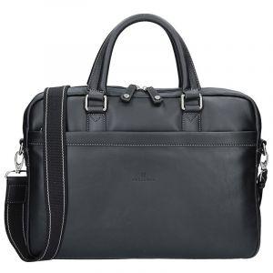 Pánská kožená taška přes rameno Hexagona Moet – černá 11553