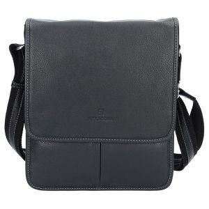 Pánská kožená taška na doklady Hexagona 469548 – černá 11543