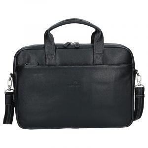 Pánská kožená taška přes rameno Hexagona Tango – černá 11512