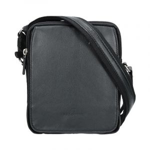 Pánská kožená taška na doklady Hexagona 463956 – černá 11418
