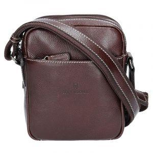 Pánská kožená taška přes rameno Hexagona 123477 – hnědá 11408