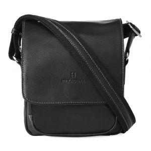 Pánská kožená taška na doklady Hexagona 463958 – černá 11407