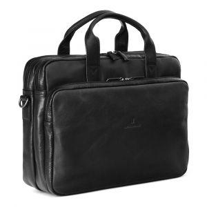 Pánská kožená taška přes rameno Hexagona 129479 – černá 11402