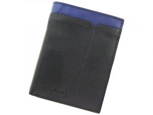 Pánská kožená peněženka Pierre Cardin Saturn – černo-modrá 11399