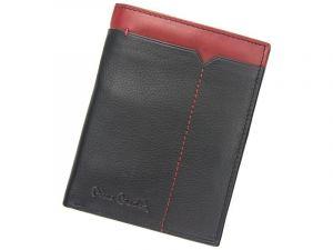 Pánská kožená peněženka Pierre Cardin Saturn – černo-červená 11398