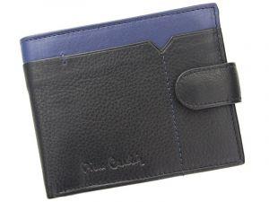 Pánská kožená peněženka Pierre Cardin Uran – černo-modrá 11397