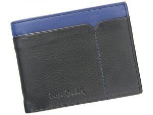 Pánská kožená peněženka Pierre Cardin Norel – černo-modrá 11396