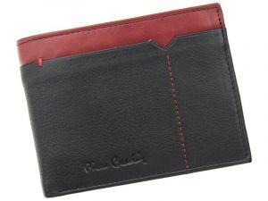 Pánská kožená peněženka Pierre Cardin Norel – černo-červená 11394