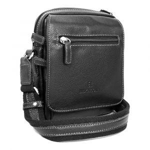 Pánská kožená taška na doklady Hexagona 463993 – černá 11361
