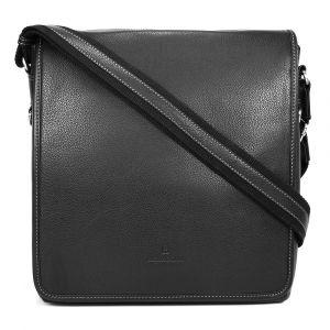 Pánská celokožená taška přes rameno Hexagona 469563 – černá 11358