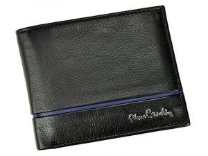 Pánská kožená peněženka Pierre Cardin Michel – černo-modrá 11240