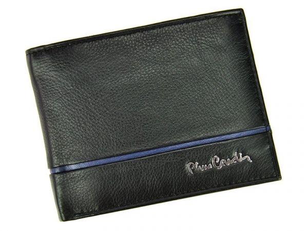 Pánská kožená peněženka Pierre Cardin Jean – černo-modrá 11238