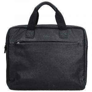 Pánská kožená taška přes rameno Katana Malven – černá 11173