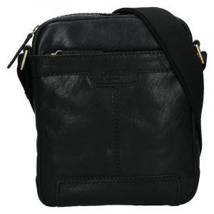 Pánská kožená taška přes rameno Lagen Vinston – černá 18732