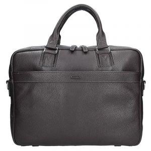 Pánská kožená taška přes rameno Katana Alfons – hnědá 11102