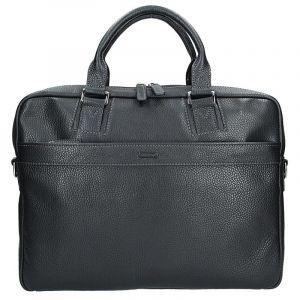 Pánská kožená taška přes rameno Katana Alfons – černá 11101