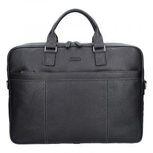 Pánská kožená taška přes rameno Katana Simons – černá 11100