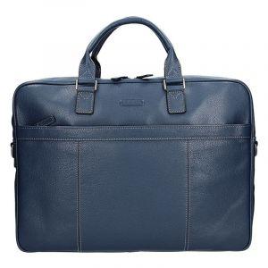 Pánská kožená taška přes rameno Katana Simons – modrá 11098