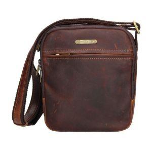 Pánská kožená taška přes rameno SendiDesign Cyrano – hnědá 11088