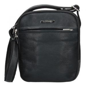 Pánská kožená taška přes rameno SendiDesign Cyrano – černá 11087