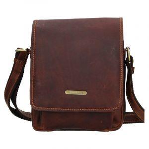 Pánská kožená taška přes rameno SendiDesign Merkur – hnědá 11086