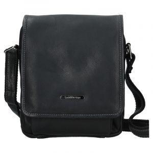 Pánská kožená taška přes rameno SendiDesign Merkur – černá 11085
