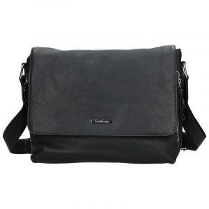Pánská kožená taška přes rameno SendiDesign Morel – černá 11083