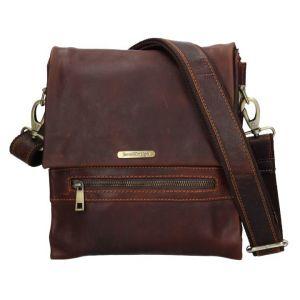 Pánská kožená taška přes rameno SendiDesign Armand – hnědá 11080