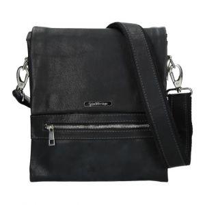 Pánská kožená taška přes rameno SendiDesign Armand – černá 11079