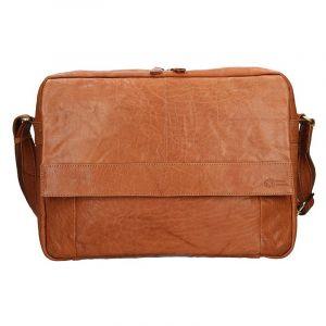 Pánská kožená taška přes rameno SendiDesign Boston – světlě hnědá 11071