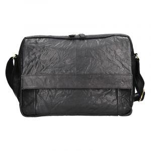 Pánská kožená taška přes rameno SendiDesign Boston – černá 11069