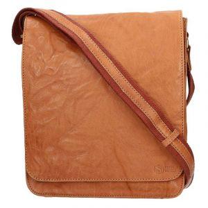Pánská kožená taška přes rameno SendiDesign Ronald – světle hnědá 11068
