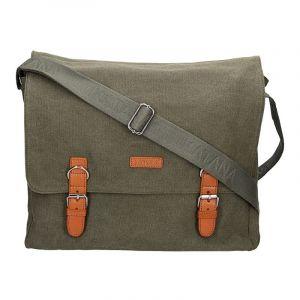 Pánská taška Katana Toile – zeleno-šedá 11057