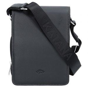 Pánská celokožená taška na doklady Katana Klope – černá 11049