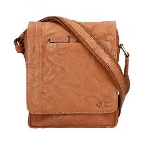 Pánská kožená taška přes rameno SendiDesign Apolon – hnědá 11040