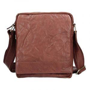 Pánská kožená taška přes rameno SendiDesign Vincent – tmavě hnědá 11032