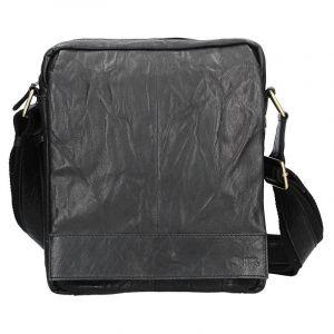 Pánská kožená taška přes rameno SendiDesign Vincent – černá 11031