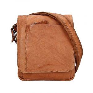 Pánská kožená taška přes rameno SendiDesign Timmy – světle hnědá 11030