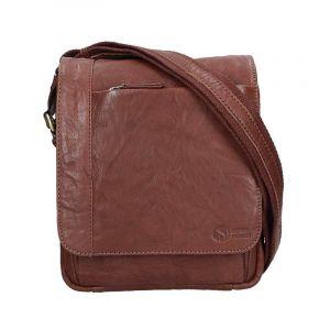 Pánská kožená taška přes rameno SendiDesign Timmy – tmavě hnědá 11029