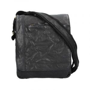 Pánská kožená taška přes rameno SendiDesign Timmy – černá 11027