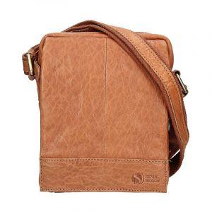 Pánská kožená taška přes rameno SendiDesign Eduardo – světle hnědá 11026