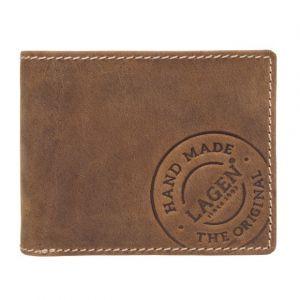 Pánská kožená peněženka Lagen Thor – hnědá 11025