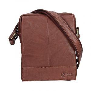 Pánská kožená taška přes rameno SendiDesign Eduardo – tmavě hnědá 11024