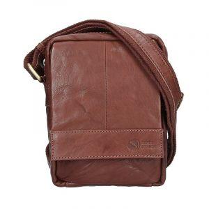 Pánská kožená taška přes rameno SendiDesign Pietro – tmavě hnědá 11020