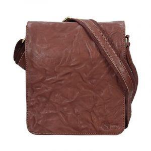 Pánská kožená taška přes rameno SendiDesign Stefano – tmavě hnědá 11014
