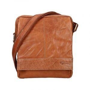 Pánská kožená taška přes rameno SendiDesign Mattia – světle hnědá 11012