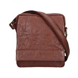 Pánská kožená taška přes rameno SendiDesign Mattia – tmavě hnědá 11011