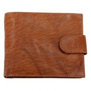 Pánská kožená peněženka SendiDesign SNW6947 – světle hnědá 11006