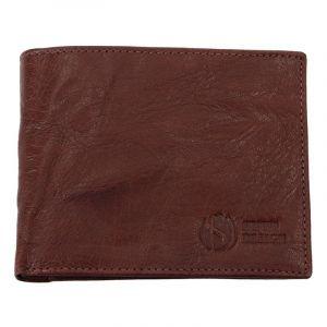 Pánská kožená peněženka SendiDesign SNW6946 – tmavě hnědá 11002
